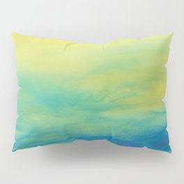 YELLOW & BLUE TOUCHING #1 #abstract #art #society6 Pillow Sham