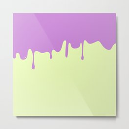 Cotton Candy Drips PURP Metal Print