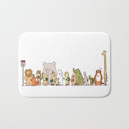 At The Bus Stop Bath Mat