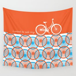 i want to ride my bicycle Wall Tapestry