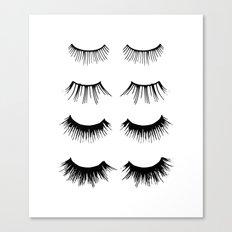Beauty Lashes Canvas Print