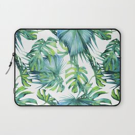 Blue Jungle Leaves, Monstera, Palm #society6 Laptop Sleeve