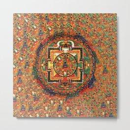 Buddhist Kalachakra Mandala DMT Vision Metal Print