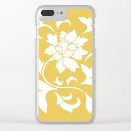 Oriental Flower - Mustard Yellow Clear iPhone Case