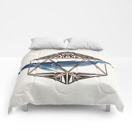 whale in the icosahedron Comforters