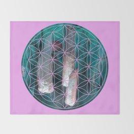 Crystal flower of life | Secret Geometry Throw Blanket