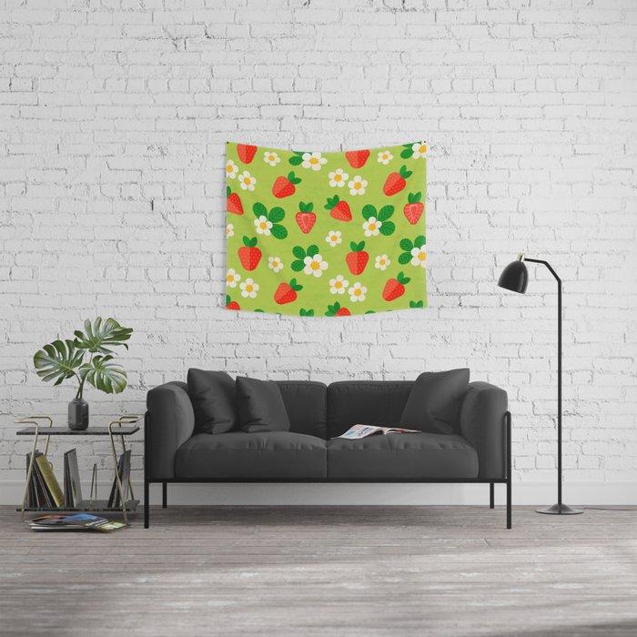 Strawberry pattern Wall Tapestry