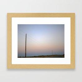 Electric Lines Framed Art Print