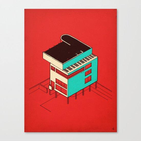 Music & Architecture Canvas Print