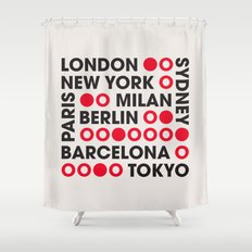 I Love This City Typography Shower Curtain
