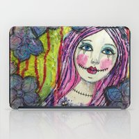 goth iPad Cases featuring Goth Girl by Krazy Island Studios