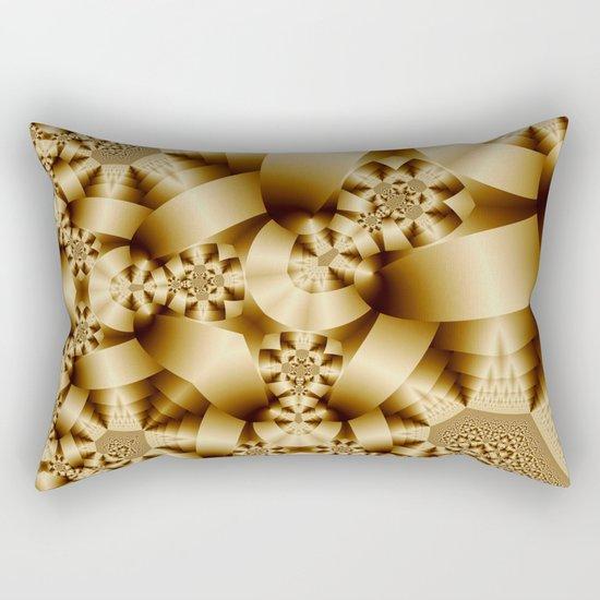 Golden shapes and patetrns in 3-D Rectangular Pillow