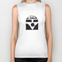vw bus Biker Tanks featuring Vw Bus by CavCo.