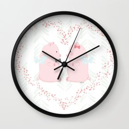 I believe love flies - Flying Pigs Couple Wall Clock
