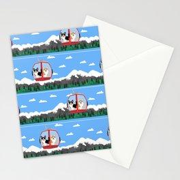 Gondola corgis telluride ski slopes custom dog Stationery Cards