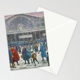 La Gare de l'Est sous la neige, 1917 Maximilian Luce Stationery Cards