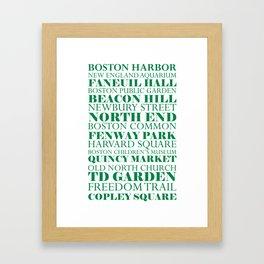 Boston Landmarks - Sports Framed Art Print