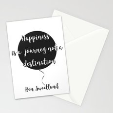 Happiness is a journey, not a destination Stationery Cards