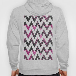 Abstract pink gray white chevron tropical monster leaves Hoody