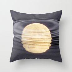 Cold Moon Reflections Throw Pillow