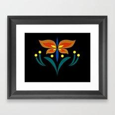 Anna Spring Embroidery Framed Art Print