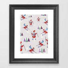 Snow Penguins Framed Art Print