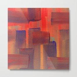 Abstract City Sunset Metal Print