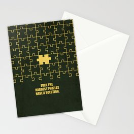 Lab No. 4 -Even The Hardest Puzzles Have A Solution Corporate Start-Up Quotes Stationery Cards
