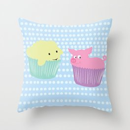 Animals To Bed Throw Pillow