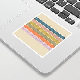 Pastel Stripes Sticker