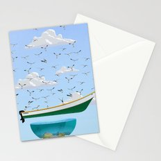 Boat and Birds Stationery Cards