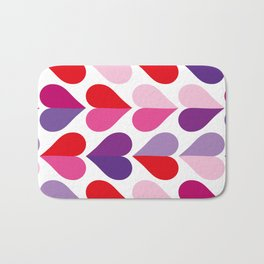 Love and Kisses in Ultra Violet Bath Mat