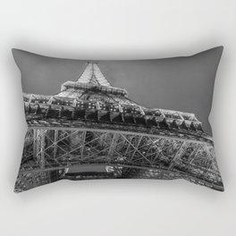 Eiffel Tower 2 (Black and White) Rectangular Pillow