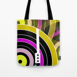 Bright retro records Tote Bag