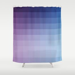 Lumen, Blue and Purple Glow Shower Curtain