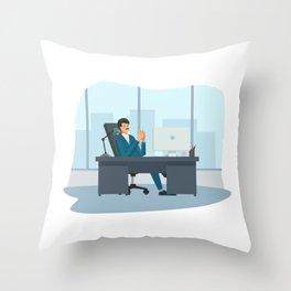 Big Boss Happy National Boss Day Throw Pillow