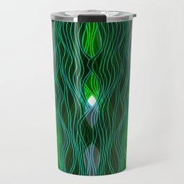 Parallel Lines No.: 03. - Blue-Green, Symmetrical Travel Mug