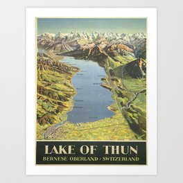 Vintage poster - Lake of Thun Art Print