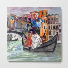 Lovers in Venice Metal Print