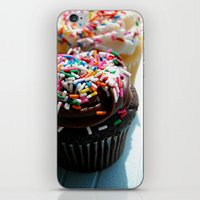 cupcakes iPhone & iPod Skins featuring Cupcakes by Gabby DaRienzo