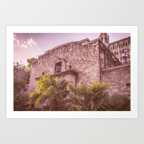 Palm Tree Summer - The Alamo Art Print