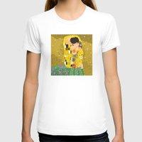 gustav klimt T-shirts featuring The Kiss (Lovers) by Gustav Klimt  by Alapapaju