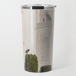 Bird at the Taj Travel Mug
