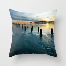 Color My World Blue Throw Pillow