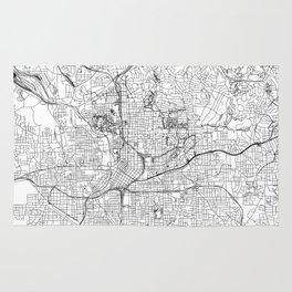 Map rugs society6 atlanta white map rug gumiabroncs Images