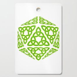 St Patrick's Day Celtic Triquetra D20 Cutting Board
