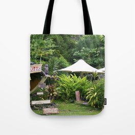 Fruit Stand in Tropical French Polynesia Tote Bag