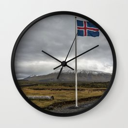 Iceland. Wall Clock