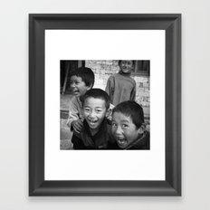Lukla Children 2 Framed Art Print