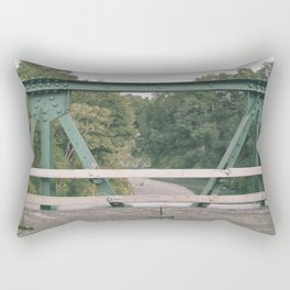 Green Patterns Rectangular Pillow